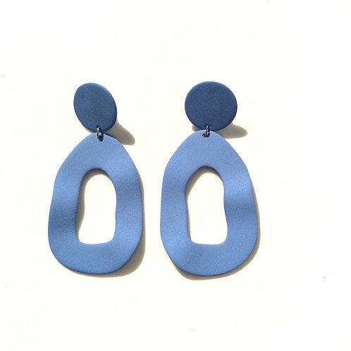 Four Eyes Ceramic Modern Earrings
