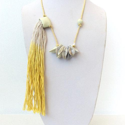 Cecilia Borghi Ceramic and Linen Necklace