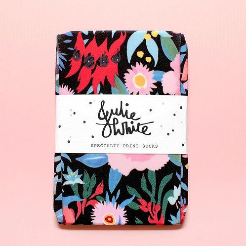 Wild flowers socks by Julie white