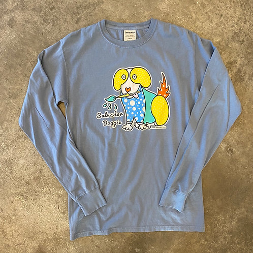 Salvador Doggie long Sleeve t shirt Blue