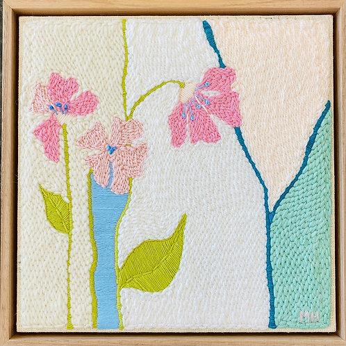 Pink Poppies Monica Henry Fiber Art
