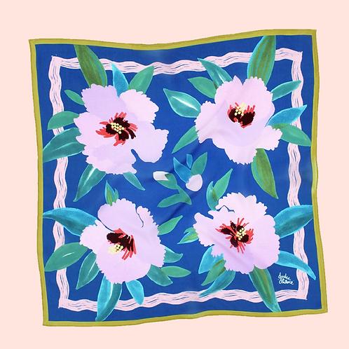 """Julie White Dessert Rose 25"""" x 25"""" silk/cotton scarf"""