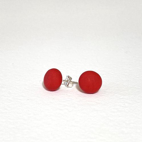 Emily Green stud Earrings Red
