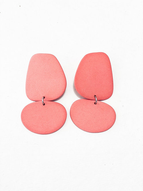 Four Eyes Ceramic Earrings