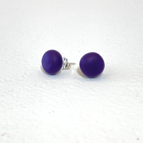 Emily Green stud Earrings Egg Plant