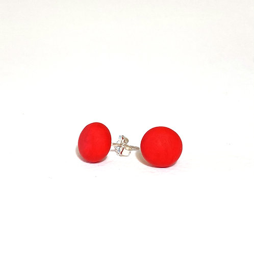 Emily Green stud Earrings Bright Red