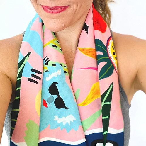 """Gone Troppo 35""""x35"""" silk scarf"""