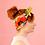 "Thumbnail: Julie White Tropical Garden 25"" x 25"" silk/cotton scarf"