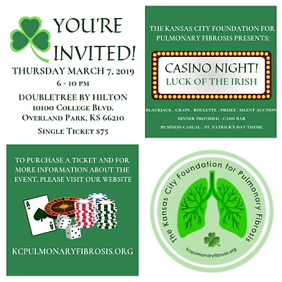Casino Night invitation for social media
