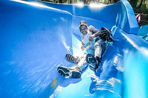Water Slide Obstacle Summit Survivor