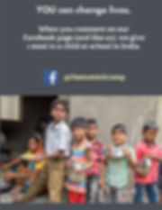 When you comment or like the Summit in Facebook, we provide school meals to children in India addressing the most pressing problems of hunger and illiteracy.