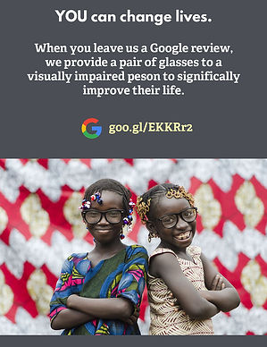 A Google review you leave for the Summit equals a pair of glasses for someone who is visually impaired in Indonesia.