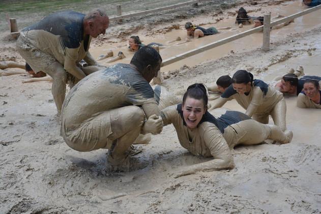 Mud Crawl Obstacle Summit Survivor