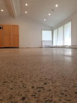 Low gloss polished concrete Detroit