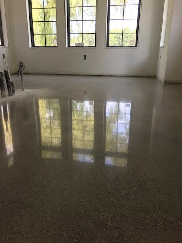 Reflection of a polished concrete