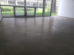 Semi gloss polished concrete floor,
