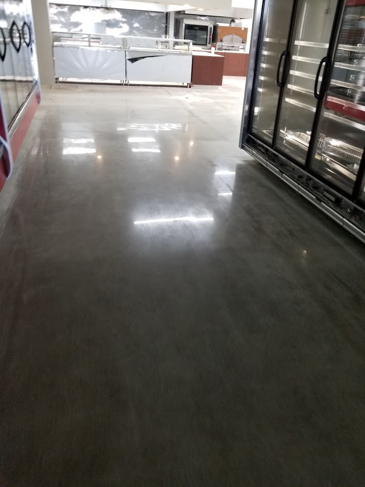 High gloss polished concrete