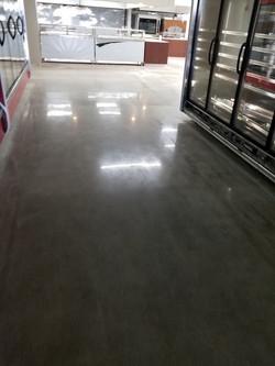 High gloss polished concrete