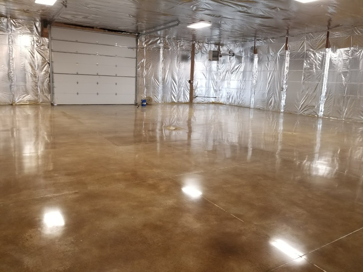 Sand color dye, polished concrete
