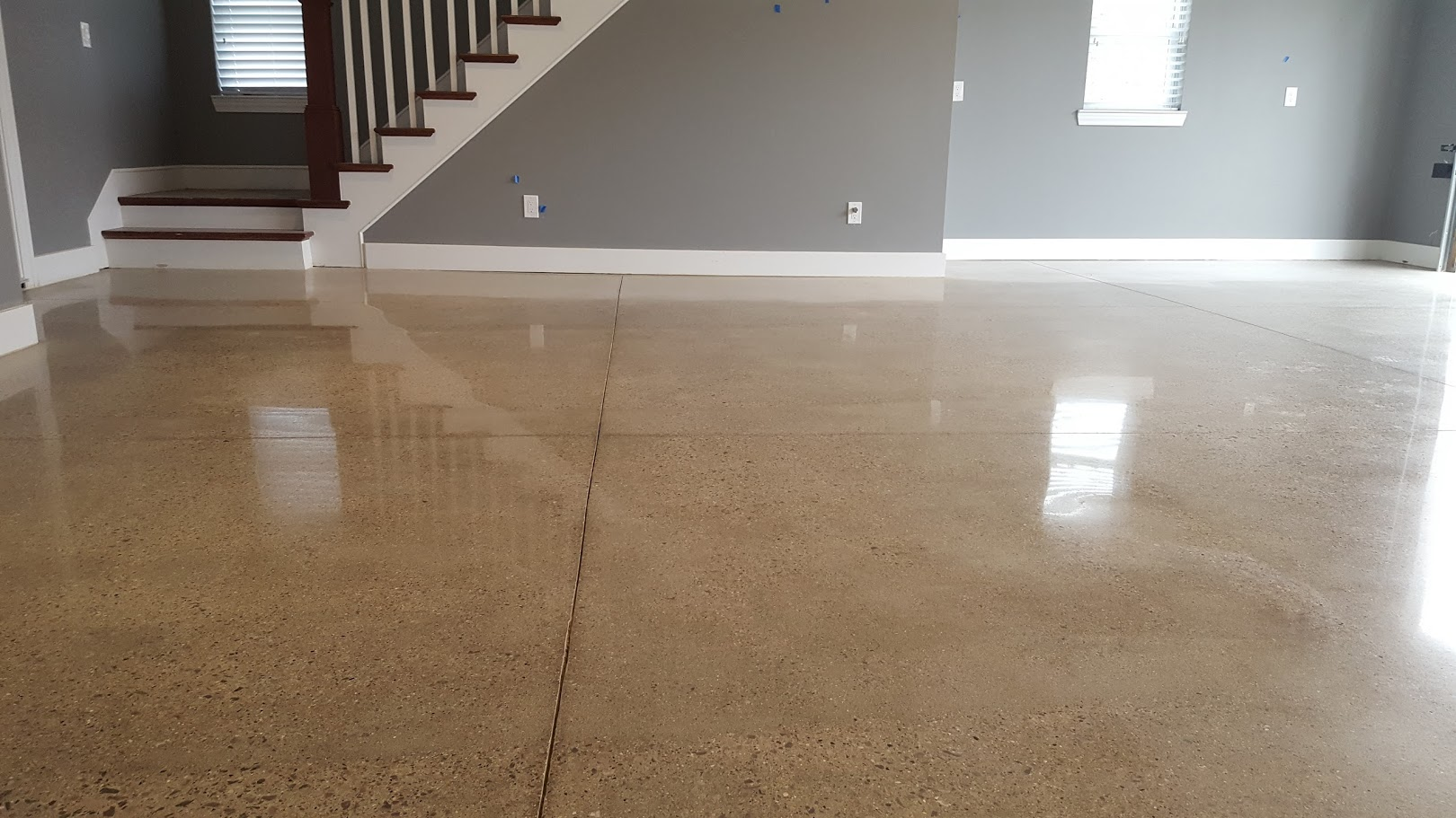High polished concrete