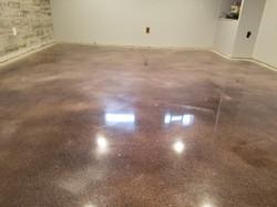 Basement polished concrete