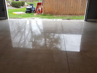 Polished garrage floor in Shelby Township