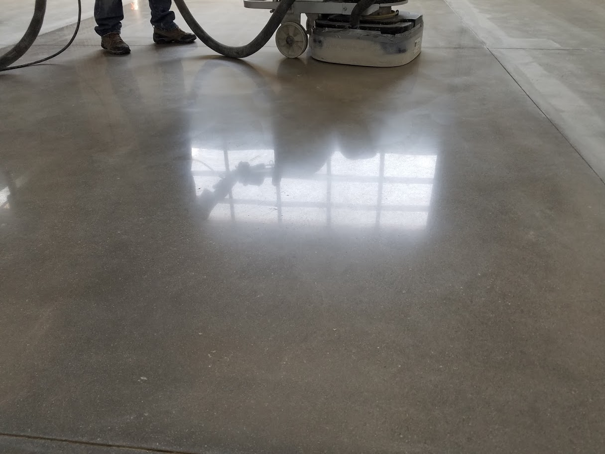 Sample concrete polishing