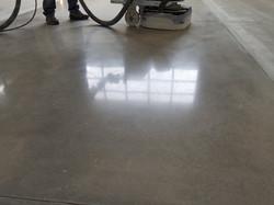 Sample concrete polishing