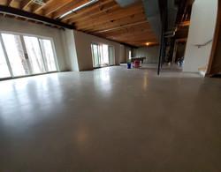 Low gloss polished concrete