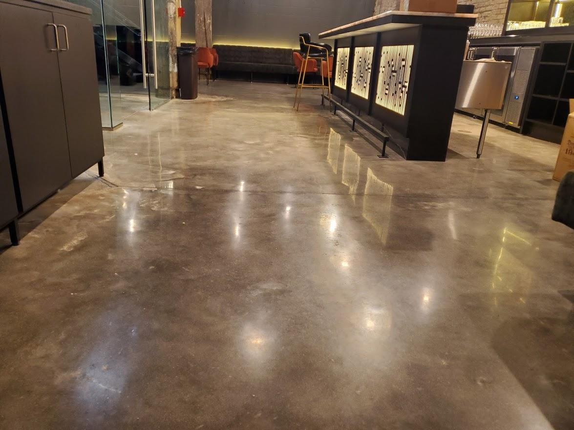 Polished concrete floor in Detroit