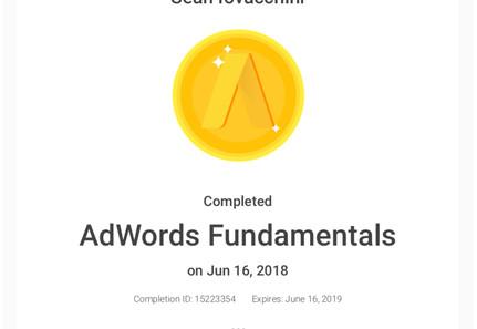 BeeFound.ca Google Adwords Fundamentals Certification.jpg