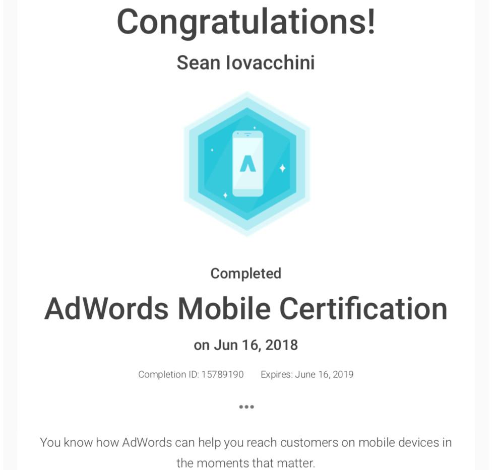 BeeFound.ca Google  Adwords Mobile Certification.jpg