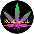 Rose Gold Cannabis Logo Small