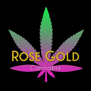 Rose Gold Cannabis Logo Small