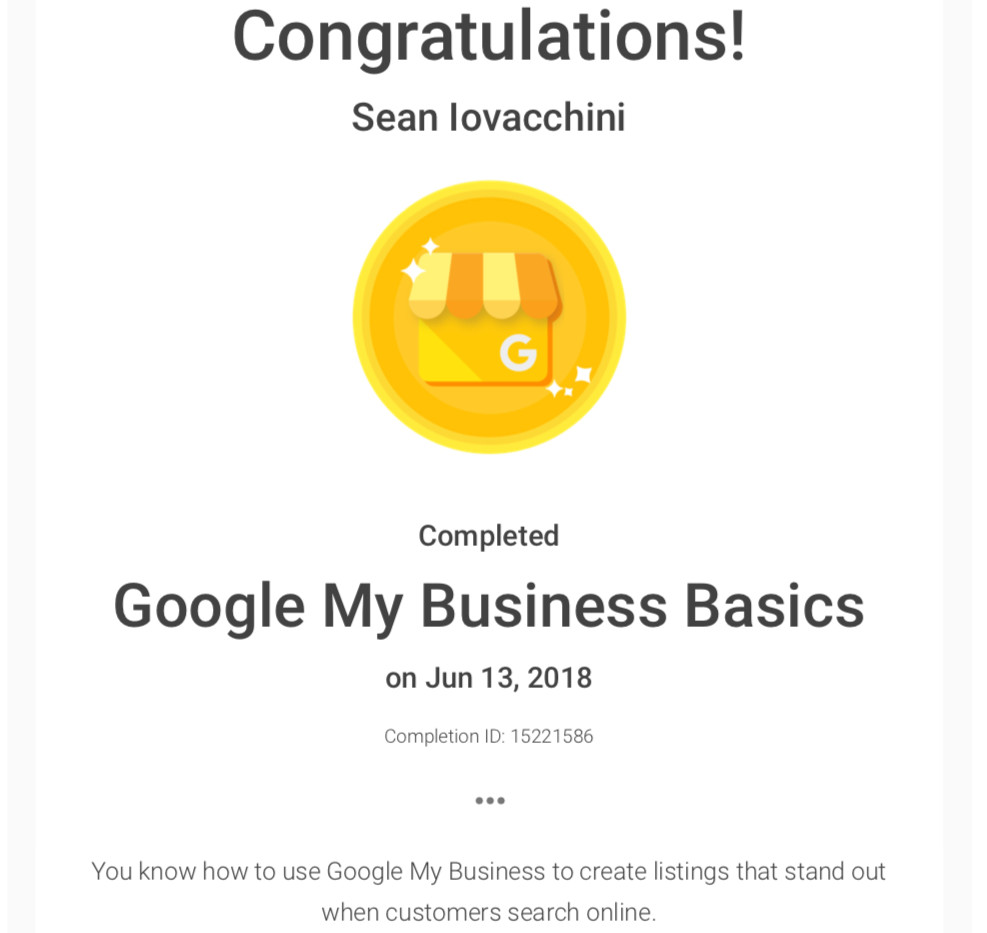 BeeFound.ca Google My Business Basics Certification.jpg