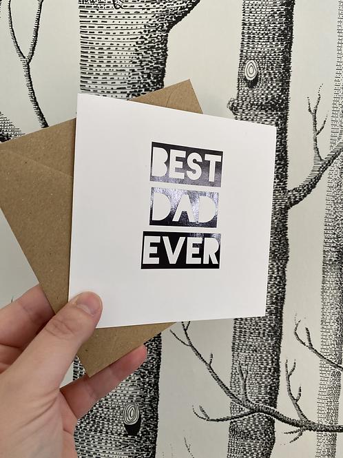 Best Dad Ever card