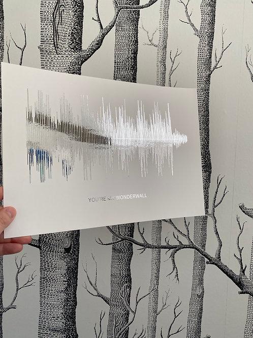 You're My Wonderwall - A4 - silver foil