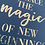Thumbnail: Magic of new beginnings - A4 - gold broken glass foil on dark blue