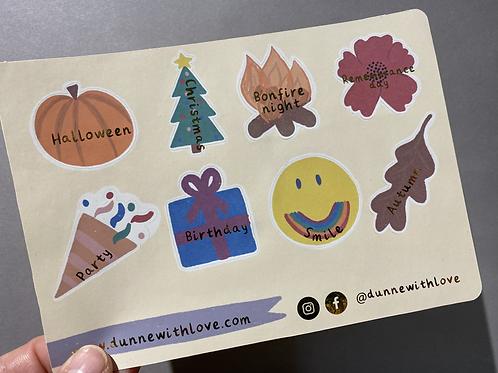 Autumnal planner/journal sticker sheet