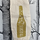 Thumbnail: Prosecc-ho-ho-ho bottle bag - gold glitter