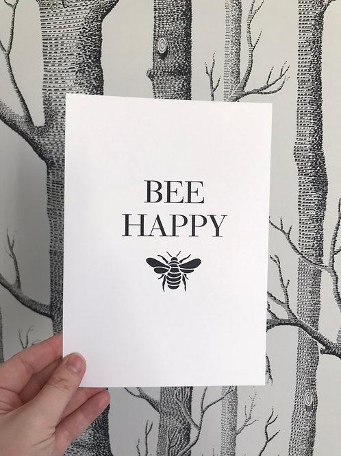 Bee Happy - A5 - Black (Non-Foil)