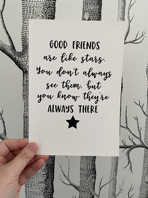 Good Friends - A5 - Black (non-foil)