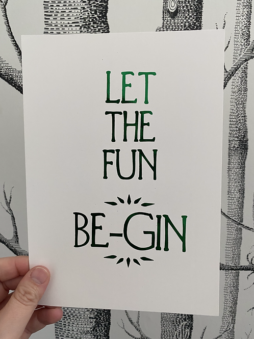 Be-Gin - A4 - Black (non-foil)