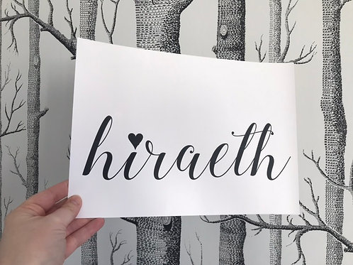 Hiraeth - A4 - Black (Non-Foil)