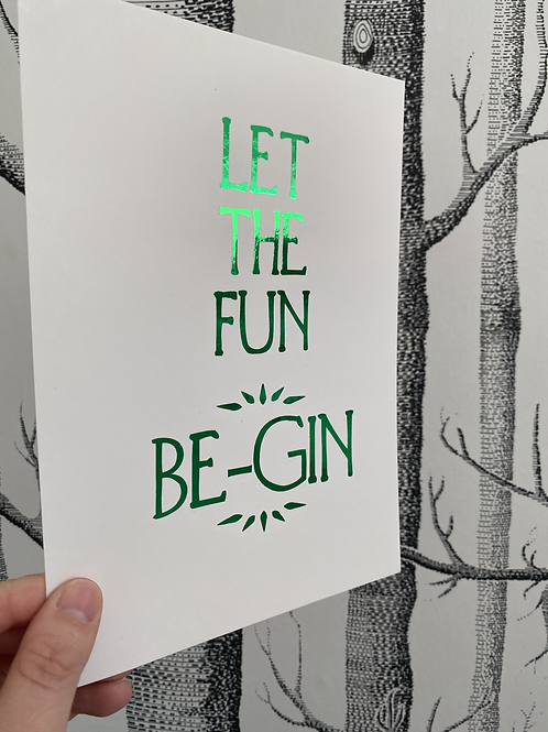 Be-Gin - A5 - green foil