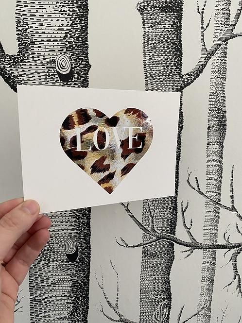 LOVE - 4x6approx. - animal print foil