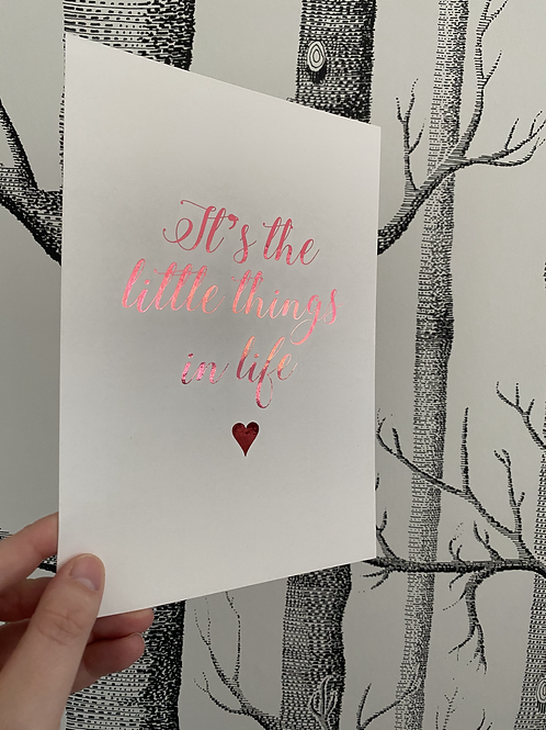 Little Things In Life - A5 - bright pink foil