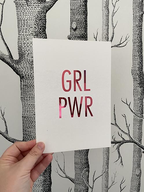 GRL PWR - A5 - bright pink foil