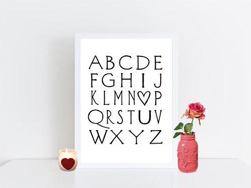 Alphabet - I love you
