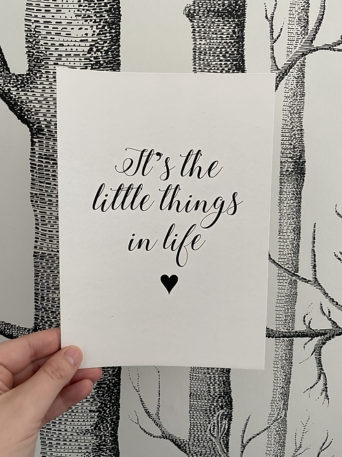Little Things In Life - A5 - Black (non foil)